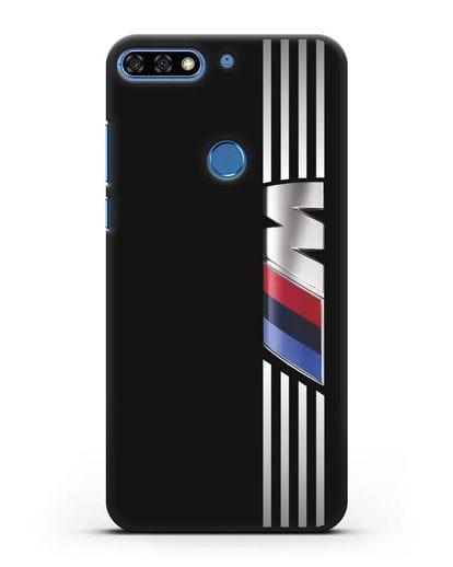Чехол с символикой BMW M серия силикон черный для Honor 7C Pro
