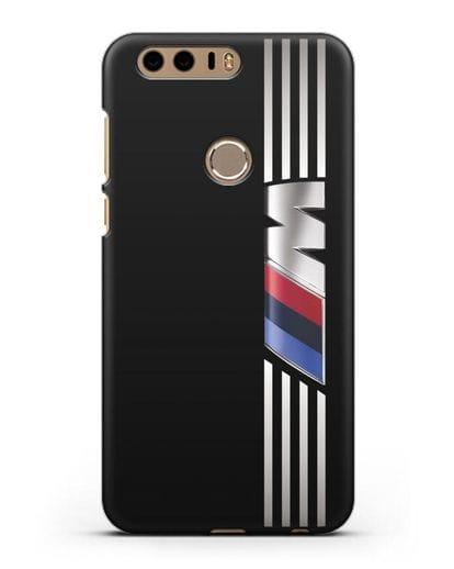 Чехол с символикой BMW M серия силикон черный для Honor 8