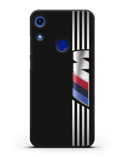Чехол с символикой BMW M серия силикон черный для Honor 8A