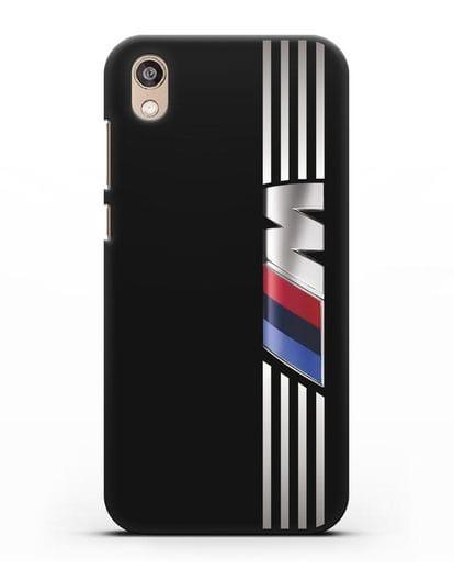 Чехол с символикой BMW M серия силикон черный для Honor 8S Prime