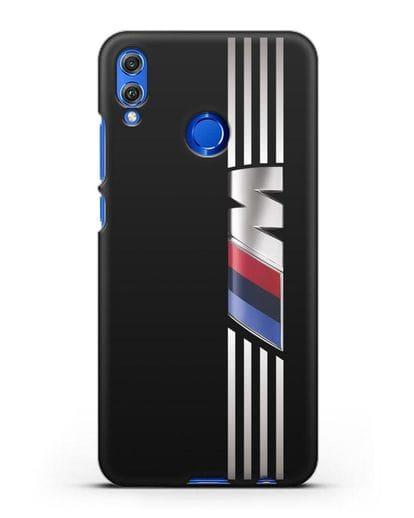 Чехол с символикой BMW M серия силикон черный для Honor 8X