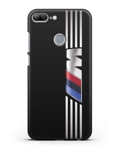 Чехол с символикой BMW M серия силикон черный для Honor 9 Lite