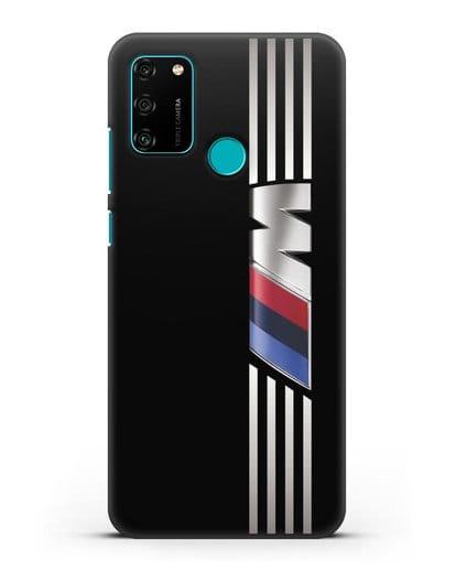 Чехол с символикой BMW M серия силикон черный для Honor 9A
