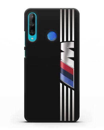 Чехол с символикой BMW M серия силикон черный для Honor 9C