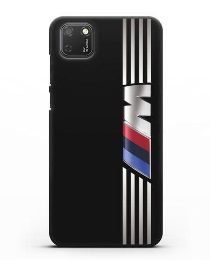 Чехол с символикой BMW M серия силикон черный для Honor 9S