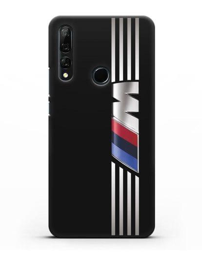 Чехол с символикой BMW M серия силикон черный для Honor 9X