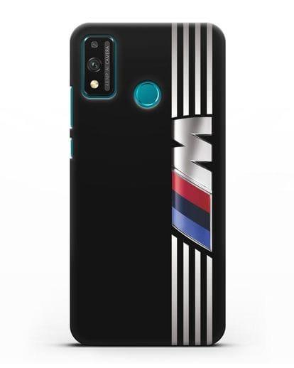 Чехол с символикой BMW M серия силикон черный для Honor 9X lite