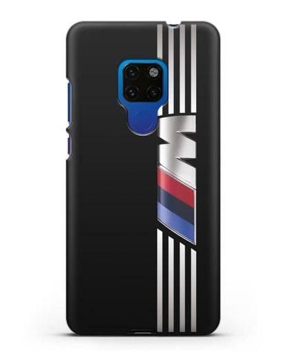 Чехол с символикой BMW M серия силикон черный для Huawei Mate 20