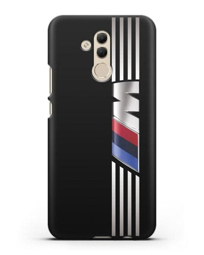 Чехол с символикой BMW M серия силикон черный для Huawei Mate 20 Lite