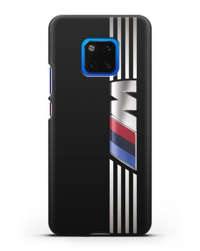 Чехол с символикой BMW M серия силикон черный для Huawei Mate 20 Pro