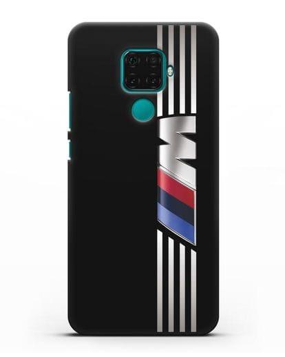 Чехол с символикой BMW M серия силикон черный для Huawei Mate 30 Lite