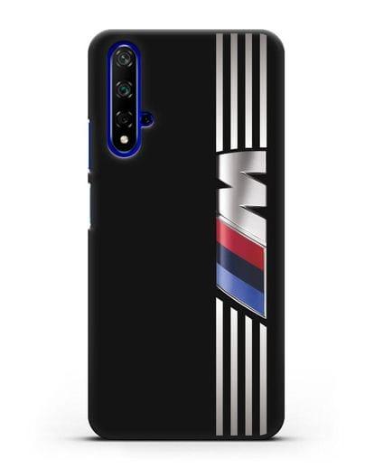 Чехол с символикой BMW M серия силикон черный для Huawei Nova 5T