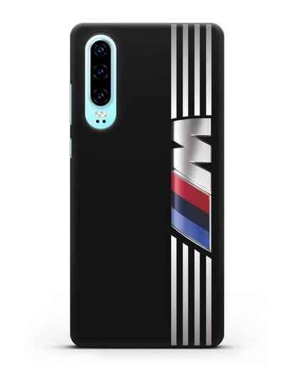 Чехол с символикой BMW M серия силикон черный для Huawei P30