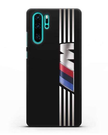 Чехол с символикой BMW M серия силикон черный для Huawei P30 Pro