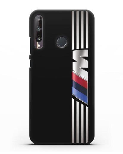 Чехол с символикой BMW M серия силикон черный для Huawei P40 lite E