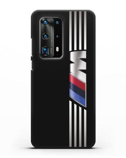 Чехол с символикой BMW M серия силикон черный для Huawei P40 Pro