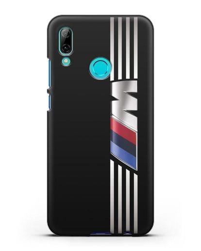 Чехол с символикой BMW M серия силикон черный для Huawei P Smart 2019