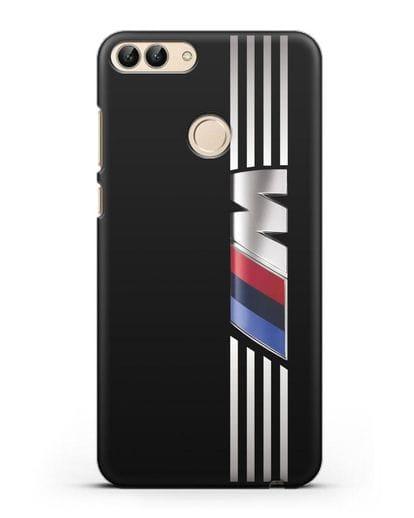 Чехол с символикой BMW M серия силикон черный для Huawei P Smart