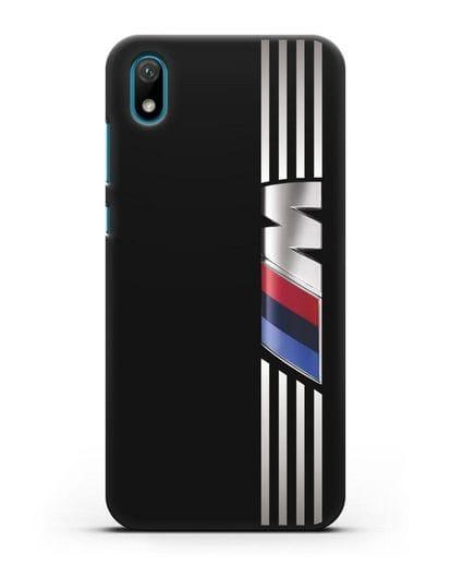 Чехол с символикой BMW M серия силикон черный для Huawei Y5 2019
