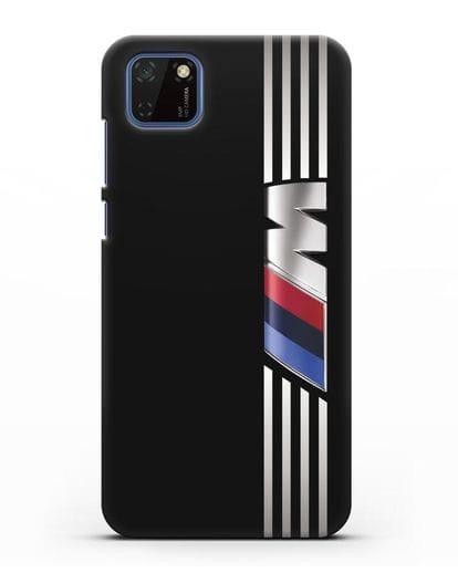Чехол с символикой BMW M серия силикон черный для Huawei Y5P