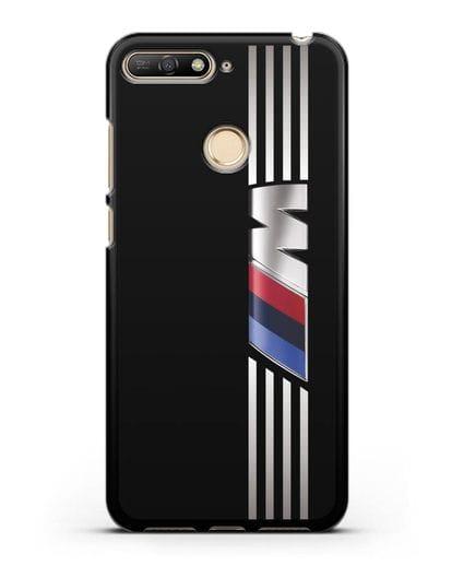 Чехол с символикой BMW M серия силикон черный для Huawei Y6 Prime 2018
