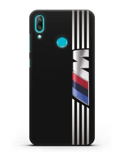 Чехол с символикой BMW M серия силикон черный для Huawei Y7 2019