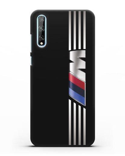 Чехол с символикой BMW M серия силикон черный для Huawei Y8P
