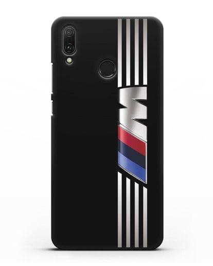 Чехол с символикой BMW M серия силикон черный для Huawei Y9 2019