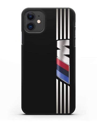 Чехол с символикой BMW M серия силикон черный для iPhone 11
