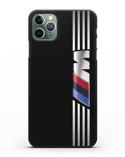 Чехол с символикой BMW M серия силикон черный для iPhone 11 Pro Max