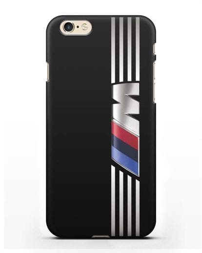 Чехол с символикой BMW M серия силикон черный для iPhone 6