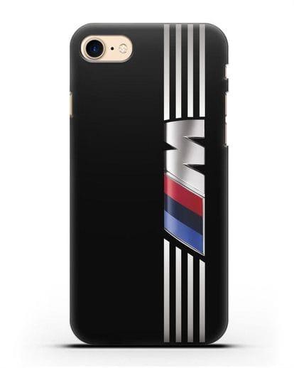 Чехол с символикой BMW M серия силикон черный для iPhone 8