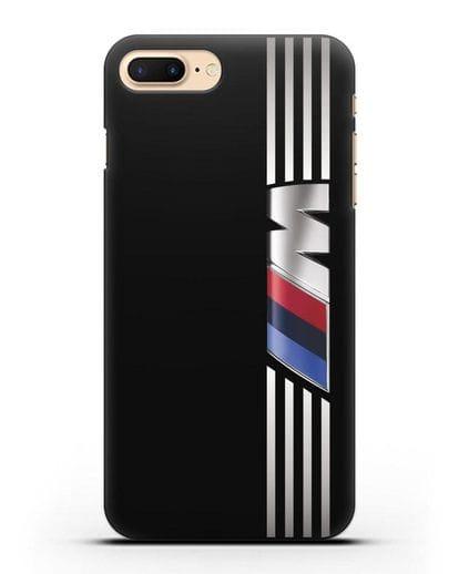 Чехол с символикой BMW M серия силикон черный для iPhone 7 Plus