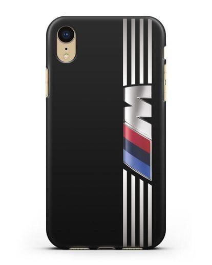 Чехол с символикой BMW M серия силикон черный для iPhone XR