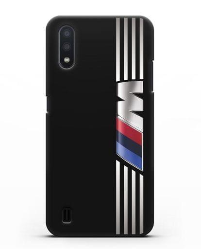 Чехол с символикой BMW M серия силикон черный для Samsung Galaxy A01 [SM-A015F]