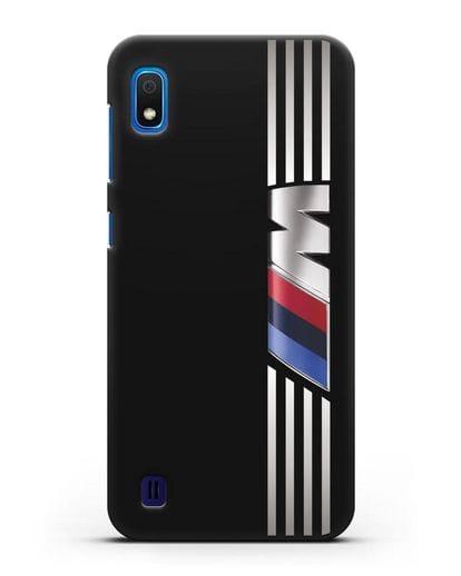 Чехол с символикой BMW M серия силикон черный для Samsung Galaxy A10 [SM-A105F]