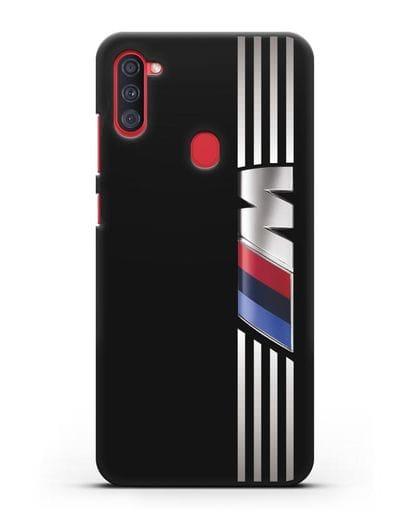 Чехол с символикой BMW M серия силикон черный для Samsung Galaxy A11 [SM-A115F]