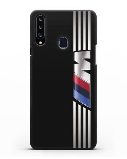 Чехол с символикой BMW M серия силикон черный для Samsung Galaxy A20s [SM-A207FN]