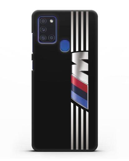 Чехол с символикой BMW M серия силикон черный для Samsung Galaxy A21s [SM-A217F]