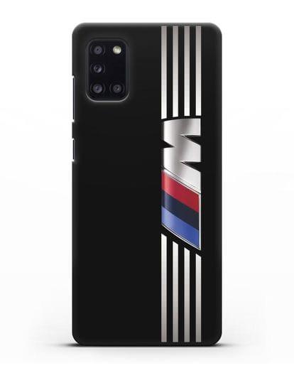 Чехол с символикой BMW M серия силикон черный для Samsung Galaxy A31 [SM-A315F]