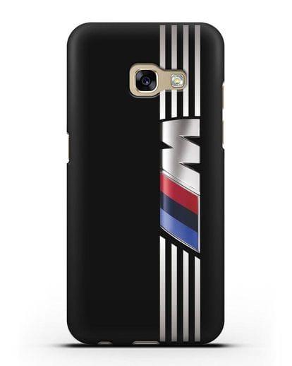 Чехол с символикой BMW M серия силикон черный для Samsung Galaxy A3 2017 [SM-A320F]