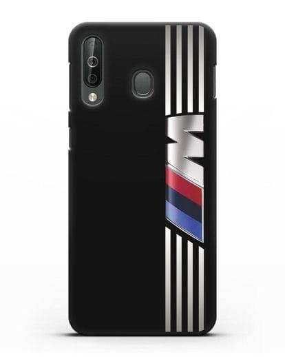 Чехол с символикой BMW M серия силикон черный для Samsung Galaxy A40s [SM-A507FN]