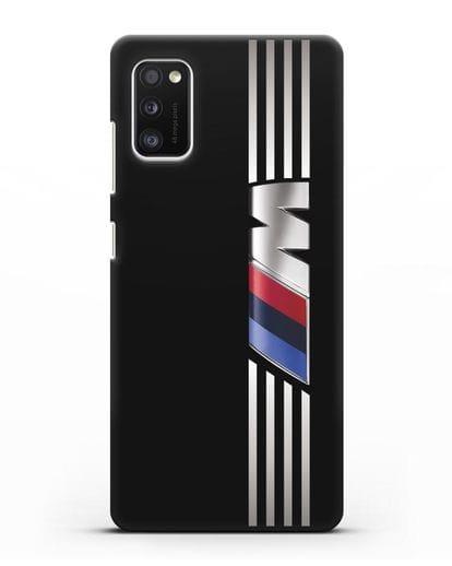 Чехол с символикой BMW M серия силикон черный для Samsung Galaxy A41 [SM-A415F]