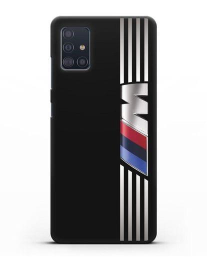 Чехол с символикой BMW M серия силикон черный для Samsung Galaxy A51 [SM-A515F]