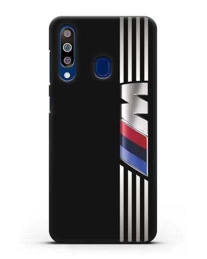 Чехол с символикой BMW M серия силикон черный для Samsung Galaxy A60 [SM-A606F]