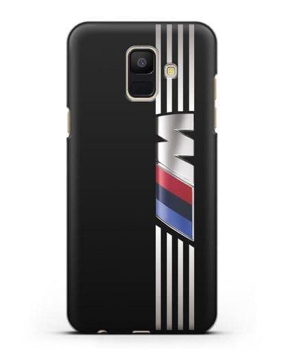 Чехол с символикой BMW M серия силикон черный для Samsung Galaxy A6 2018 [SM-A600F]