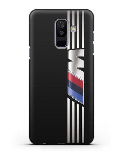 Чехол с символикой BMW M серия силикон черный для Samsung Galaxy A6 Plus 2018 [SM-A605F]