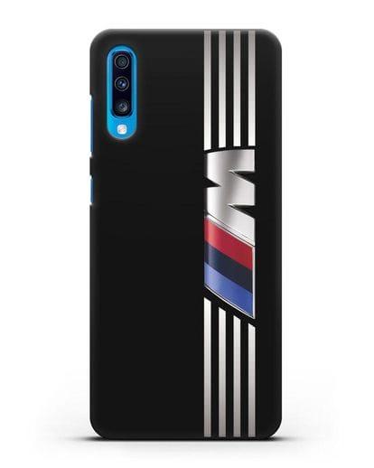 Чехол с символикой BMW M серия силикон черный для Samsung Galaxy A70 [SM-A705F]
