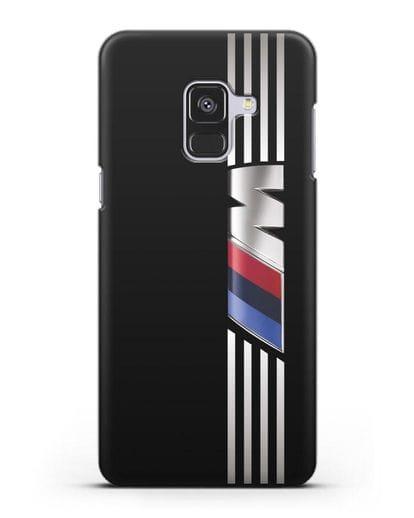 Чехол с символикой BMW M серия силикон черный для Samsung Galaxy A8 Plus [SM-A730F]