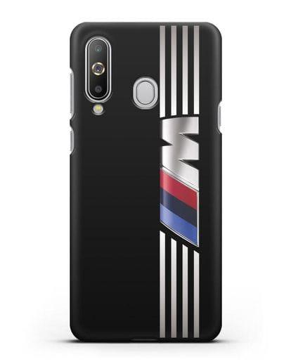 Чехол с символикой BMW M серия силикон черный для Samsung Galaxy A8s [SM-G8870]
